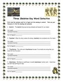 Three Skeleton Key Word Detective- Other Vocabulary Activities