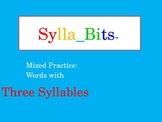 MAP NWEA Prep Reading Three Syllable Words Slideshow Mixed