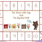 Three little Pigs Number Game Boards