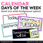 Through the Week Daily Label Cards