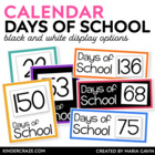 Through the Year Days of School Counting Cards