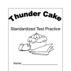 Thunder Cake Standardized Test Practice