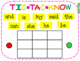 Tic Tac Know -- Smart Board activity