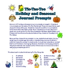 Tic-Tac-Toe Journal Prompts - Holiday and Seasonal, 117 Prompts!