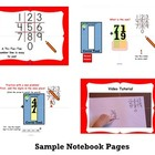 Tic Tac Toe Number Line Addition SmartBoard Activity