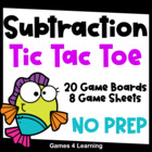 Tic Tac Toe Subtraction Facts