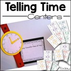 Tick Tock Telling Time Centers and Watch Craftivity