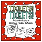 Tickets! Tickets!  Printable Raffles and Tickets for Posit