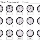 Time Assessment Worksheet