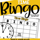 Time Bingo (Time to the Hour and Half Hour)