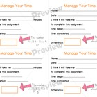 Time Management Strategy printable