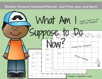 Calendar! Time Management: Student Planner and Weekly Calendar