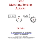 Time Matching/Sorting Activity
