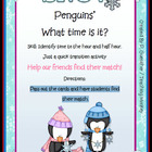 Time: Penguins Snow the Time : Hour and Half Hour
