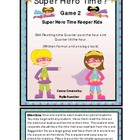 Time: Quarter Past and Quarter Till Super Heros  Girls Set 2