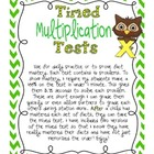 Timed Multiplication Test Practice
