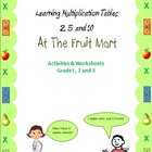 Times Tables Multiplication 2, 5 and 10 at the Fruit Mart