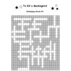 To Kill a Mockingbird: 2 Challenging Words Crosswords