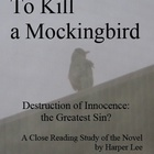 To Kill a Mockingbird Close Reading Study Guides 40 pages (Word)
