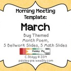 Toadstool Themed APRIL Morning Meeting template
