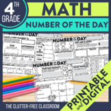 Today's Number / Number of the Day 4th Grade Common Core D