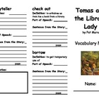 Tomas and the Library Lady Vocabulary Fold-able
