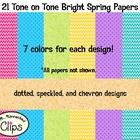 Tone on Tone Bright Spring Papers