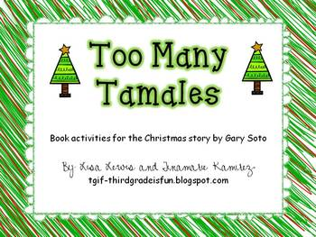 Too Many Tamales~ Book activities for the Christmas story