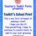 {Freebie Sampler} Toolkit's School Print Font Commercial Use OK
