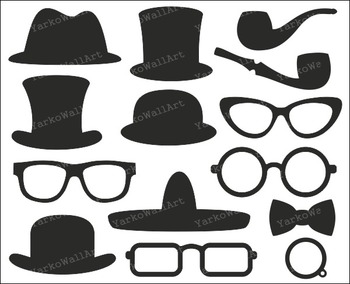 Top Hats Clip Art  Photo Booth Printable PropsPhoto Booth Clip Art