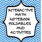 Topic 2 Math Notebook Foldables