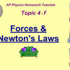 Topic 4-F Physics Homework Tutorial Vodcasts