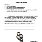 Topic Sentence and Main Idea Worksheet