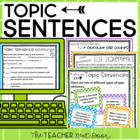 Topic Sentences Packet: Paragraph Writing (Common Core)