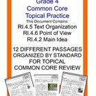 Topical Common Core Practice:  Grade 4  Bundle 1
