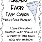 Tornado Facts Math Task Cards! (set of 20)  Mixed Math Practice