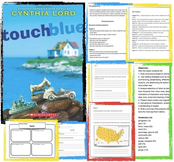Rules And Touch Blue By Cynthia Lord - Lessons - Tes Teach
