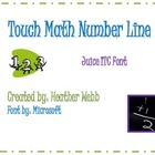 Touch Math Number Line with Juice ITC font