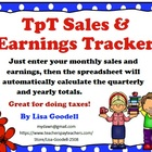 TpT Sales and Earnings Tracker for Any Year (Yearly, Quart