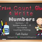 Trace, Count, Glue & Write (Numbers & Number Words)