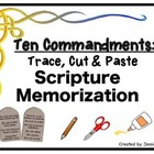 Trace, Cut & Paste Scripture Memorization: The Ten Commandments