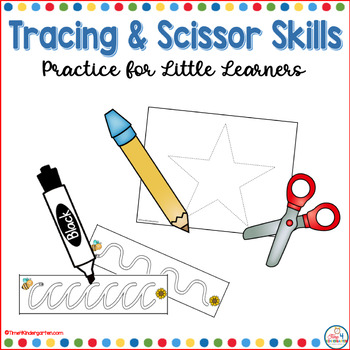 tracing and scissor skills, kindergarten find motor skills