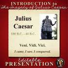 Tragedy of Julius Caesar Shakespeare PowerPoint Introduction