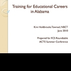 Training for Educational Careers by Kim Holdbrooks Townsel