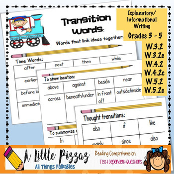 Opinion Writing Transition Words