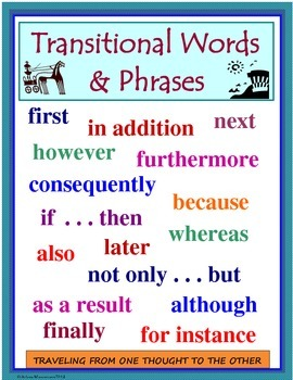 Transitional Words and Phrases Poster and Mini-lesson