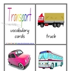 Transport Vocabulary/Flash Cards - Word Wall - 9 pages