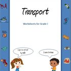 Transport and vehicles  worksheets for Grade 1