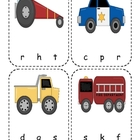 Transportation Beginning Sounds Clip Cards
