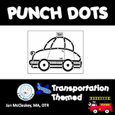 Transportation Dot or Poke Clip Art for Fine Motor Skills